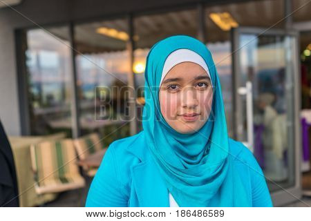 happy beatiful muslim woman