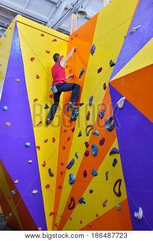 Muscular Climber Man