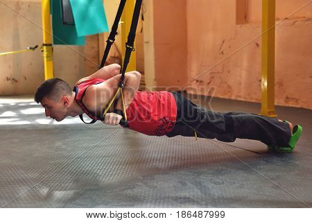Man Does Suspension Training