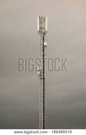 Telecommunications tower, antenna, mobile, sky, technology, industry