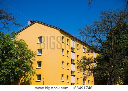 tenement house in Germany, flat, house, block