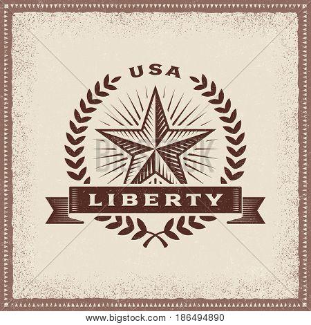 Vintage USA Liberty Label
