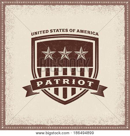 Vintage USA Patriot Label