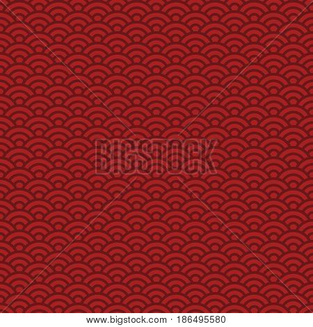 seamless pattern traditional Chinese and Japanese ocean wave