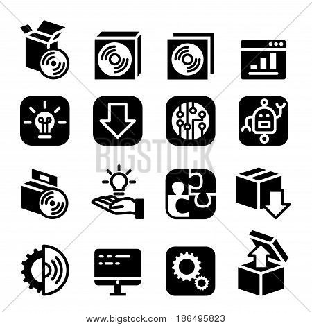 Setup configuration setting plug-in maintenance & Installation icon Software & Application
