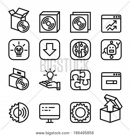 Setup setting configuration maintenance & Installation icon Software & Application in line style