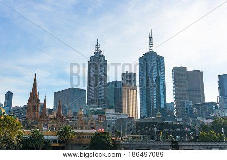 Beautiful Melbourne Cityscape View