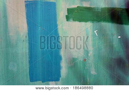 Grunge blue and green wall texture. Abstract background.