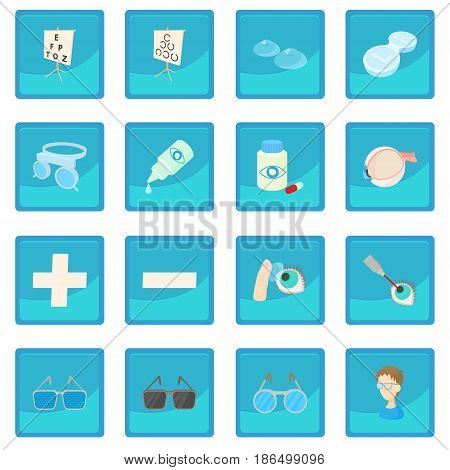 Vision correction icon blue app for any design vector illustration