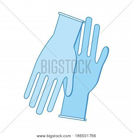 medical latex gloves to protection hands, vector illustration
