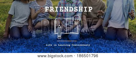 Kids Friendship Togetherness Society Word Graphic