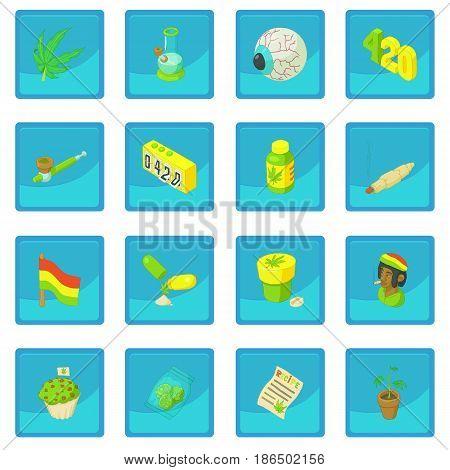 Rastafarian icon blue app for any design vector illustration