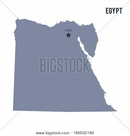 Vector map of Egypt isolated on white background. Travel Vector Illustration.