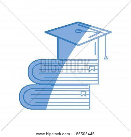 books tools with graduation cap icon, vector illustration