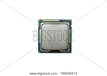 Processor chip cpu (central processing unit) isolated.