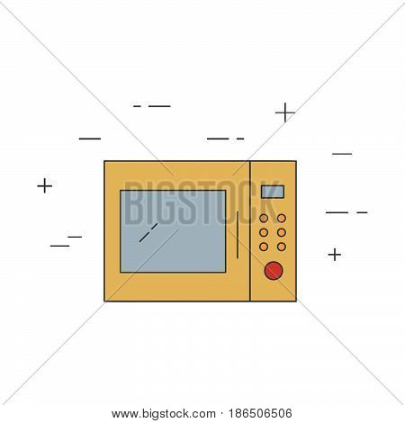 Microwave Isolated Line Icon.