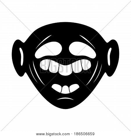 black face cartoon character on a white background