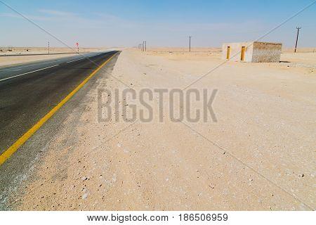 In Oman Near The    Asphalt   Loneliness