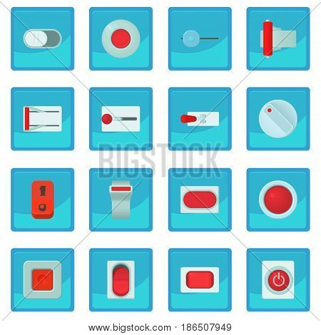 On off switch web buttons icon blue app for any design vector illustration