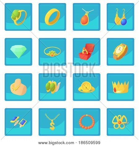 Jewelry items icon blue app for any design vector illustration