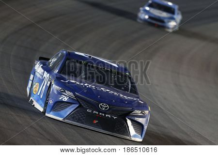 May 13, 2017 - Kansas City, Kansas, USA: Martin Truex Jr. (78) brings his car through the turn during the Go Bowling 400 at Kansas Speedway.