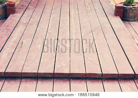 Old Wooden Floor Boards On The Diagonal, Perfect Background For Your Concept Or Project.