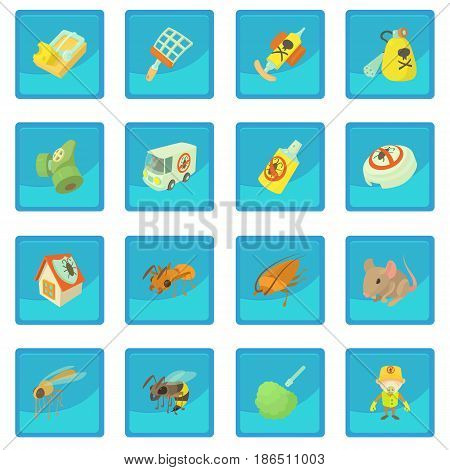 Pest control terminate icon blue app for any design vector illustration