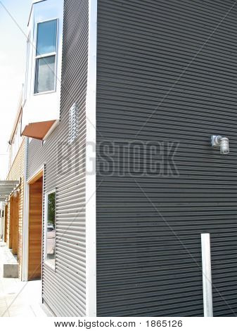 Corrugated Metal Covering On Building