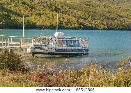 Parked Boat, Lago Del Desierto, Patagonia - Argentina