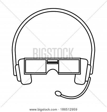 VR Virtual reality glasses simple vector flat icon