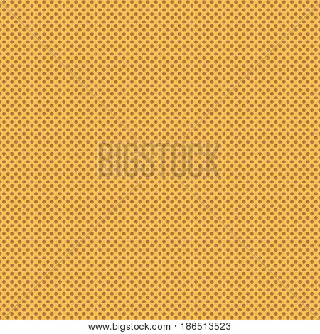 Pop Art background, seamless vector illustration, yellow and brown