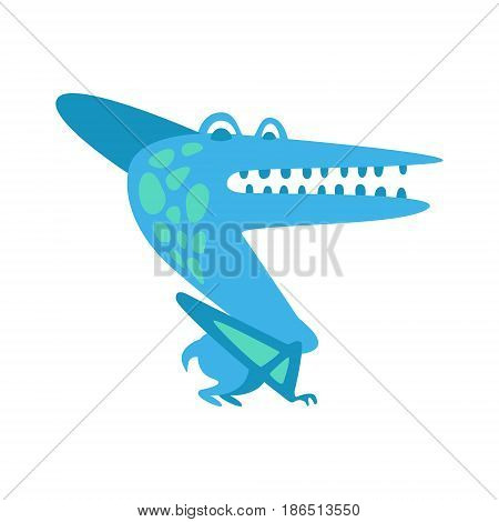 Cute fanny parazavrolofus. Prehistoric animal character colorful vector Illustration isolated on a white background