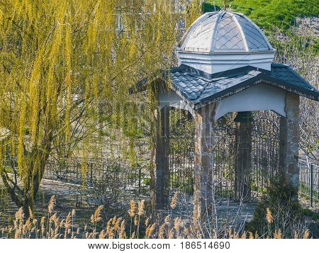 A beautiful antique gazebo in the park