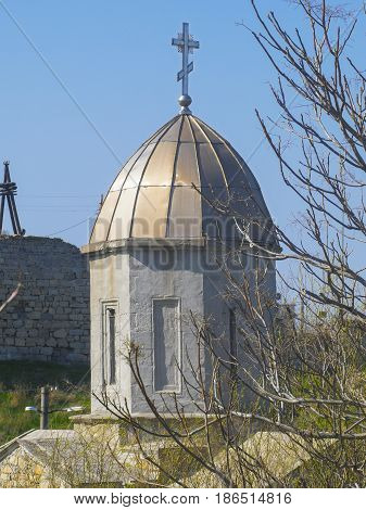 Medieval old Iverian church in Feodosia Crimea