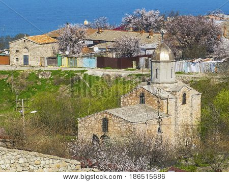 Old medieval Iverian church in Feodosia Crimea Russia