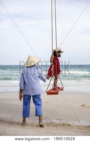 Sao Beach At Phu Quoc In Vietnam