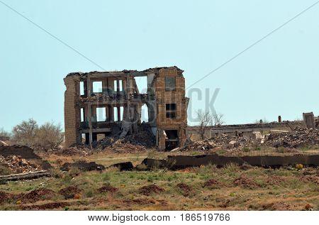 Area 35.(Ploshadka 35 ru.)Sary Shagan.Former Soviet  anti-ballistic missile testing range.Kazakhstan.May 6, 2017.Sary Shagan.Kazakhstan