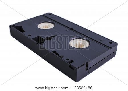 Video cassette isolated on white background. Video cassette