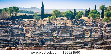 Ancient Roman ruins in Itálica Spain Europe