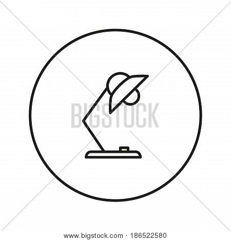 Reading Lamp. Icon for web and mobile application. Vector illustration isolated on a white background. Flat design style.