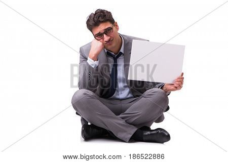 Bankrupt businessman isolated on white background