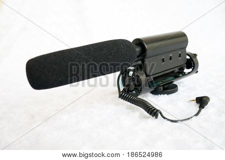 Professional microphone shotgun used in TV and film production for audio recording