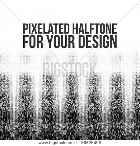 Pixelated vector Halftone Gradation for Your Design