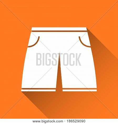 Simple men's swimsuit icon swimming trunks symbol modern flat style icon vector illustration