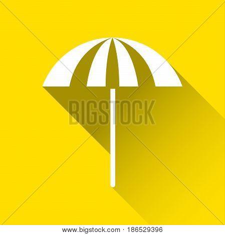 Beach umbrella icon travel and holiday symbol modern flat style icon vector illustration