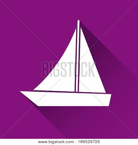 Simple ship icon boat symbol modern flat style icon vector illustration