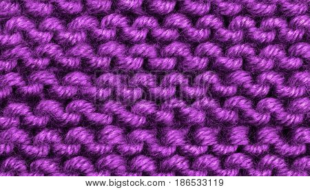 Background of Purple Natural Weave Wool closeup