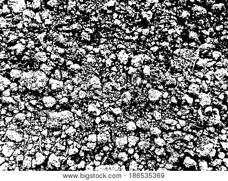 Grunge texture, versatile monochrome background. Vector illustration.