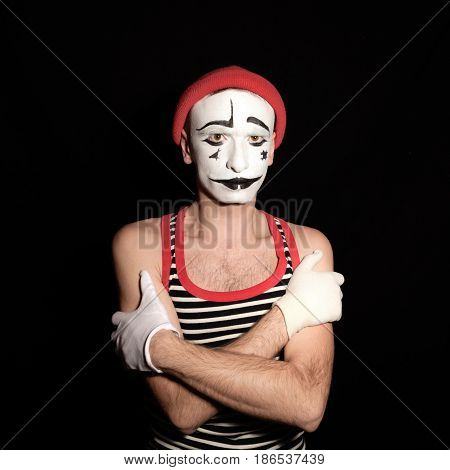 Offended Mime With Arms Crossed