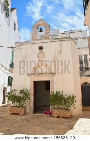 Church of Madonna del Soccorso. Locorotondo. Puglia. Italy.